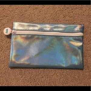Light Blue Shiny/Sparkly Ipsy Makeup Bag